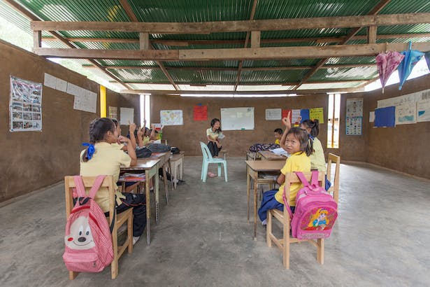 classroom in use