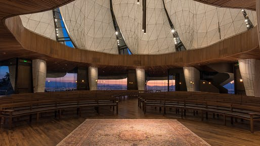 Stellar Design winner: Bahá'í Temple of South America; Santiago, Chile by Hariri Pontarini Architects. Image Credit: Guy Wenborne.
