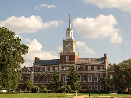 The Founder's Library building on the Howard University campus in Washington, D.C. Image courtesy of Wikimedia user <https://commons.wikimedia.org/wiki/File:Howard_University_Washington_DC_-_Founders_Library.jpg> Derek E. Morton</a>