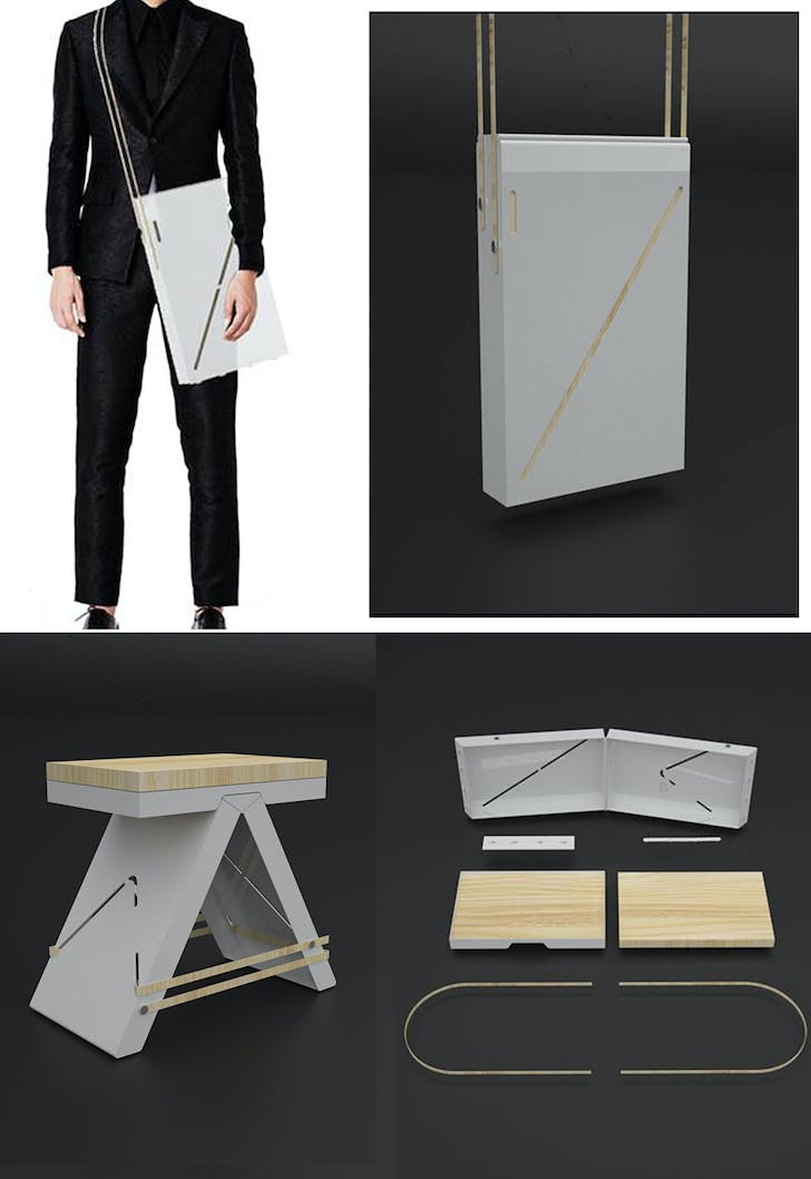 BOXY STOOL – IMASOTO COMPETITION – 2nd PRIZE – MADRID, SPAIN