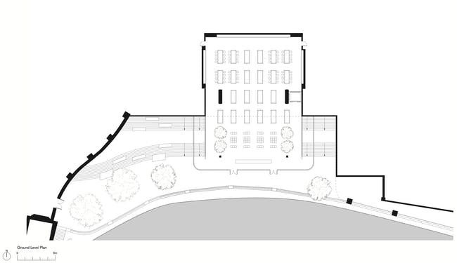 Ground Level Plan. Apple Store, Chicago, (c) Foster + Partners