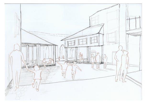 Conceptual Sketch of Piazza