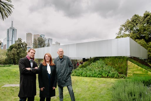 Rem Koolhaas, David Gianotten & Naomi Milgrom. Credit: Timothy Burgess.