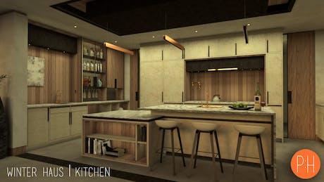 Winter House Kitchen