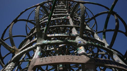 Just blocks from the iconic Watts Towers, a detail of which is seen here, architect Frank Gehry will design a community center for Children's Institute Inc. (Bob Chamberlin / Los Angeles Times)