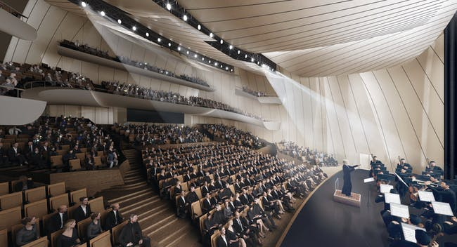 Theater interior. Image © MAD Architects
