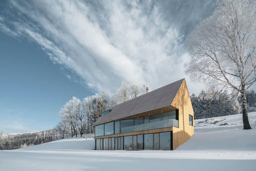 "<a href=""https://archinect.com/firms/project/150080226/house-in-krkono-e/150247670"">House</a> in Krkonoše, Czech Republic by <a href=""https://archinect.com/franekarchitects"">Fránek Architects</a>; Photo: Petr Polák"