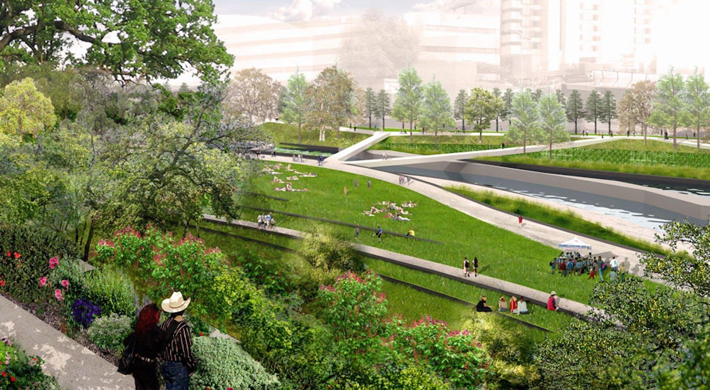 Winner of austin 39 s waller creek design competition for Xd garden design