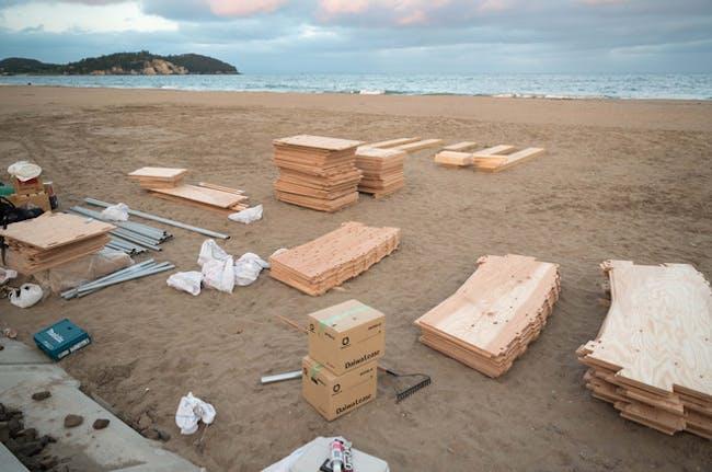 Shichigahama Beach House - under construction