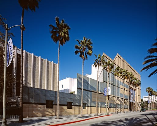 A view of the existing LACMA campus. Image courtesy of the Carol M. Highsmith Archive collection at the Library of Congress.