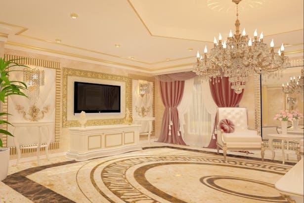 Classic interior design.
