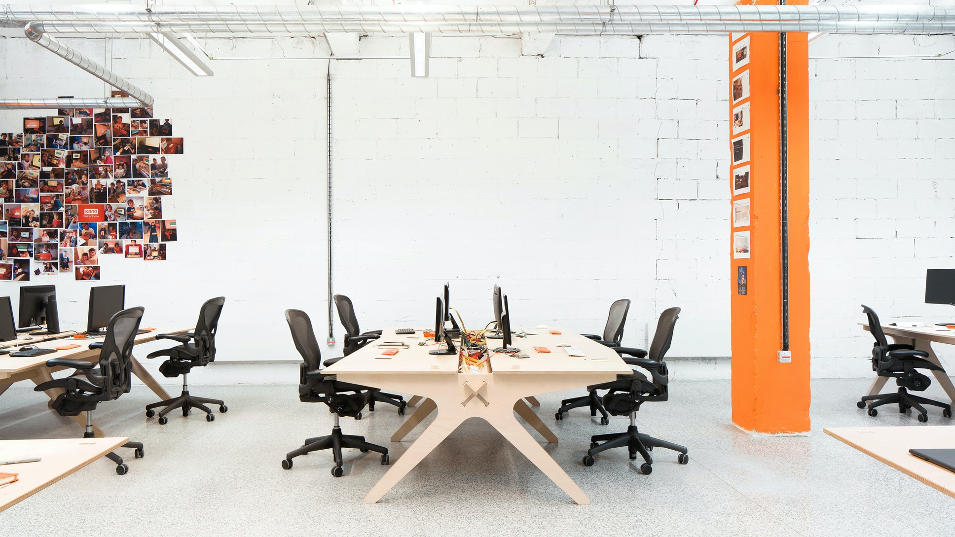 The offices for Kano feature bespoke furniture
