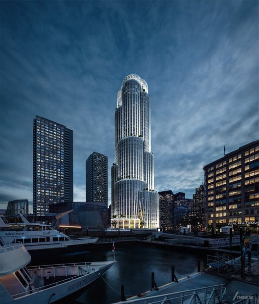 The Pinnacle at Central Wharf. All images courtesy of KPF