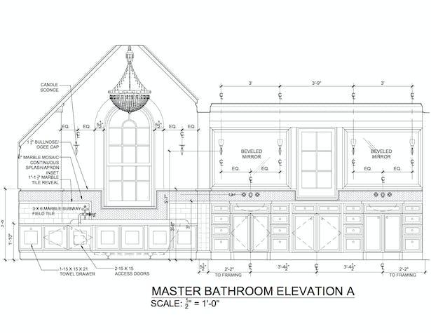 MASTER BATHROOM ELEVATION