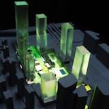 Presentation model of DaChong Masterplan. Image by Studio Link-Arc, LLC