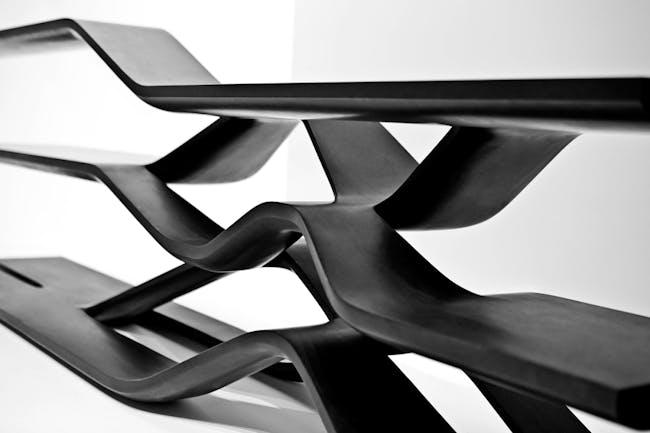 Tela Shelving for Citco by Zaha Hadid. Image by Jacopo Spilimbergo via ZHA.