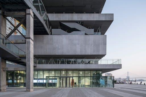 Modern Art Museum and its Walkways in Shanghai, China by Atelier Deshaus. Photo: Fangfang Tian.