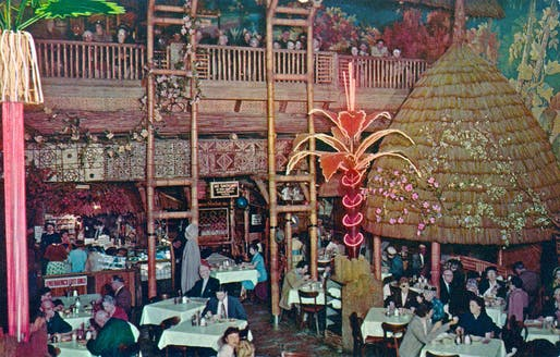 Interior of Clifton's Pacific Seas (demolished), in Downtown Los Angeles