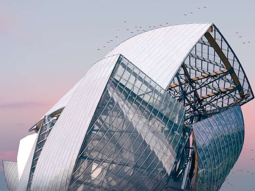 #MyFLV contest finalist image of Frank Gehry's Fondation Louis Vuitton Building, located in Paris, FR. Image: Pierre Châtel-Innocenti.