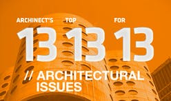 Archinect's Top 13 Architectural Issues for '13