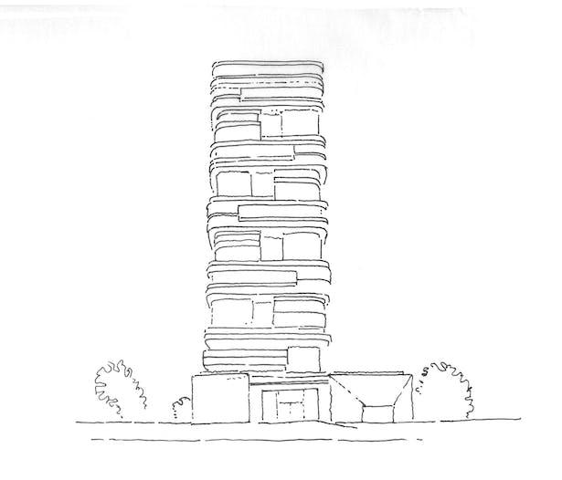 Vertical Siheyuan Sketch