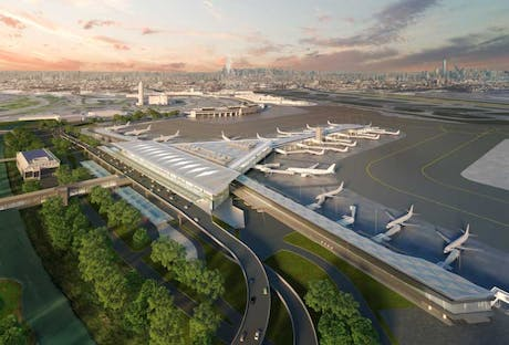 Completed final submission for a design-build airport terminal with joint firm Grimshaw