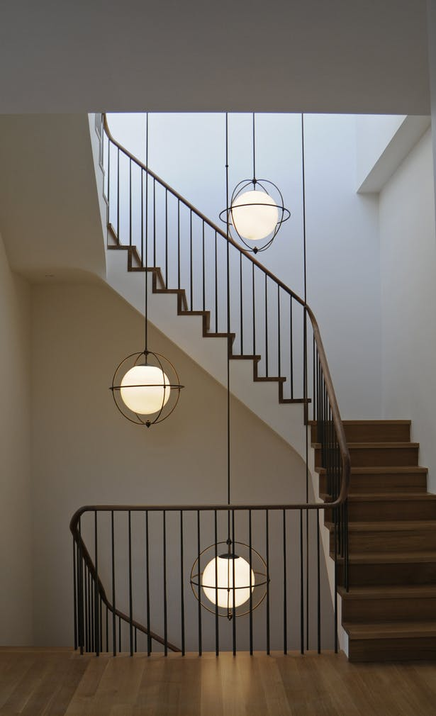 Staircase with custom lighting