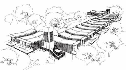 Winning Project for Isolation Transformed Competition by Deny Jones Architekt & Amat Habito. Image courtesy of WAFVirtual