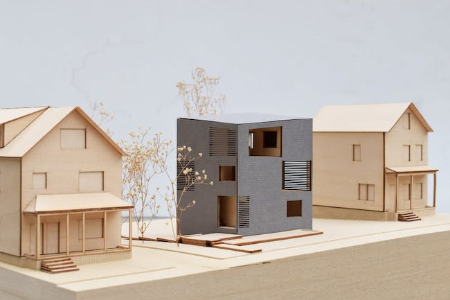 View of project model. Image courtesy of Yale School of Architecture
