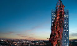 A rusty, post-apocalyptic shipwreck 'crashed' into a skyscraper could soon become Prague's tallest building