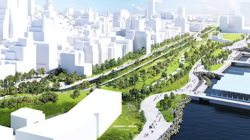 BIG's BQE solution: <i>BQP</i>. Image: Bjarke Ingels Group.