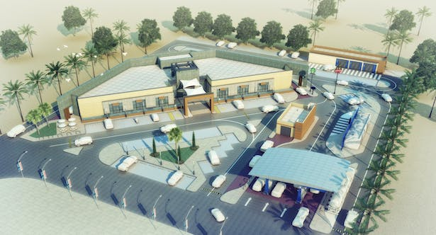Highway Rest Area Ahmad Hamed Archinect
