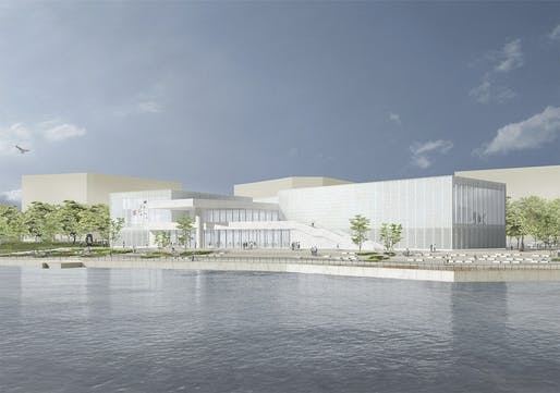 Rendering of the David Chipperfield-designed West Bund Art Museum in Shanghai. Image: David Chipperfield Architects