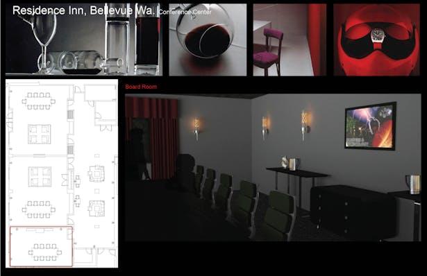 Initial concept renderings Board Room