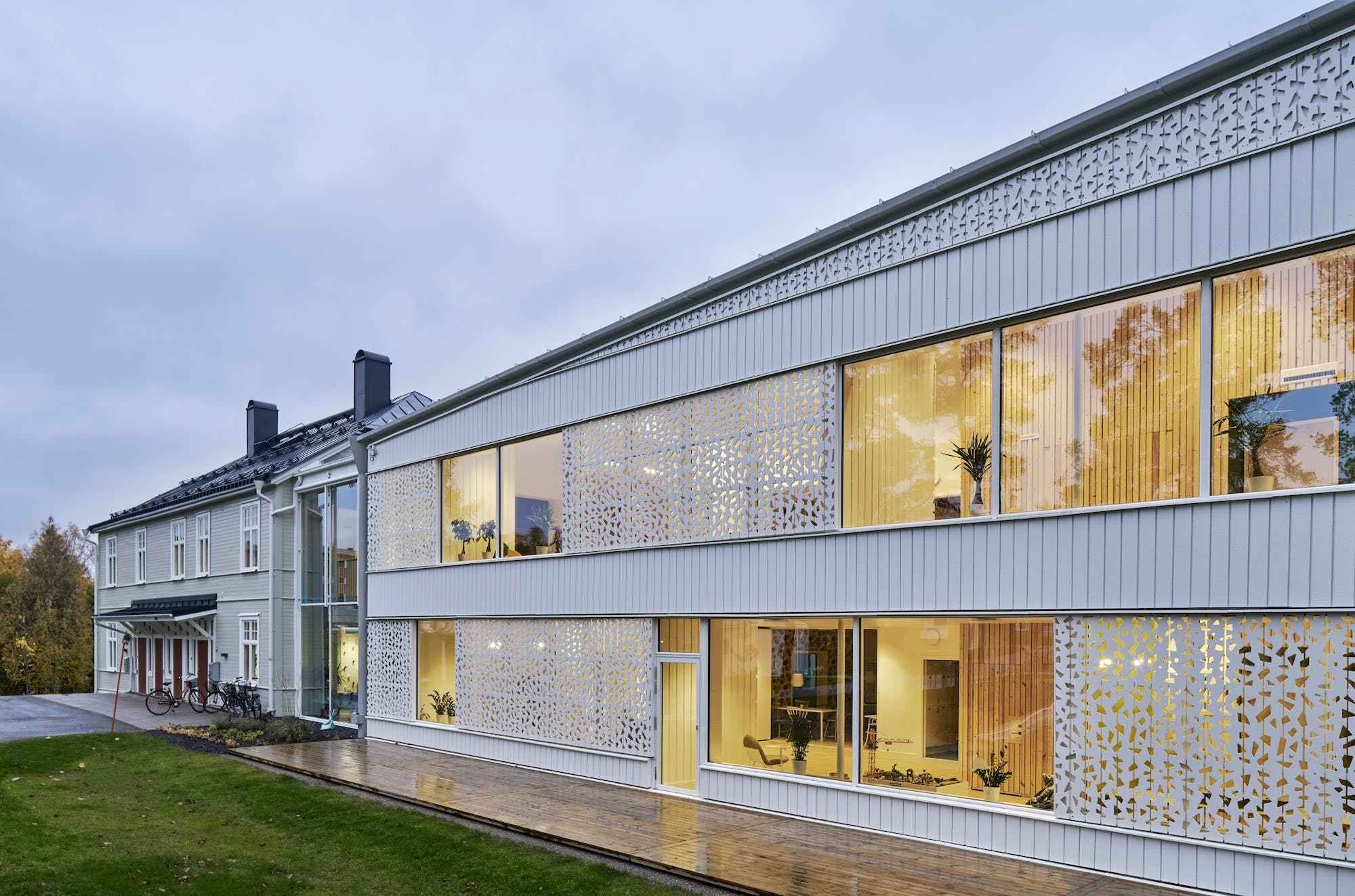 house of heroes by white arkitekter provides space for children with