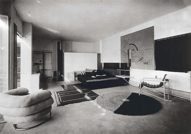 The interior of a space designed by Eileen Grey. Image via eileengray.co.uk
