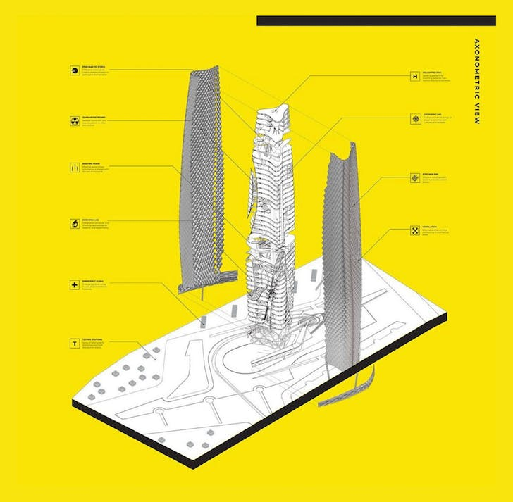 The Xenophylactic Tower by Jesus Montes-Herrera. Advised by Paulette Singley & Stephen Marshall