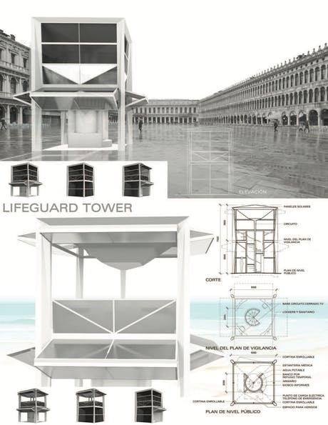 Minimalist architecture example that can be integrated in different environmental and urban contexts.