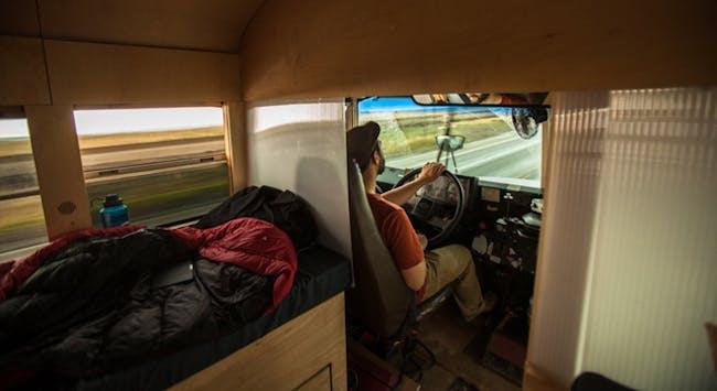 The driver's seat. Photo: Justin Evidon