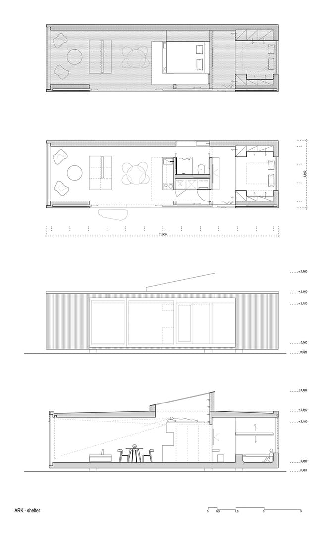 Lodge plans. Image: Ark Shelter Studio.