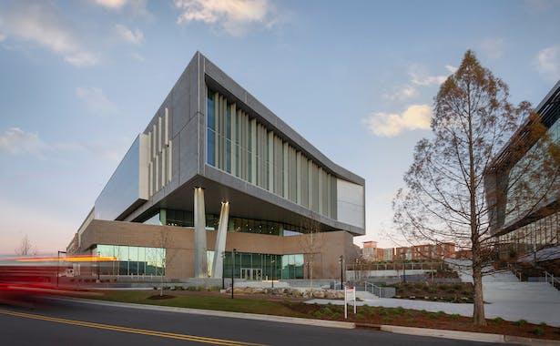 Fitts-Woolard Hall on Centennial Campus at NC State University. All photos courtesy Clark Nexsen.
