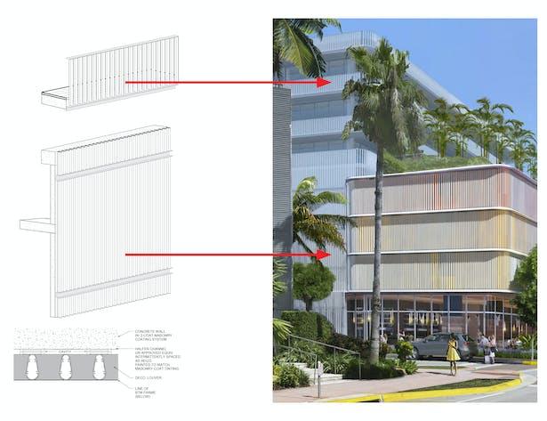 Infill Louvers and Condominium Rail Detail