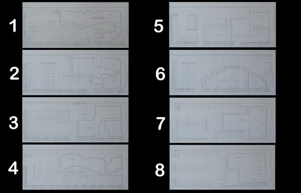 Parking layout study, to see which building shape will provide more parking.