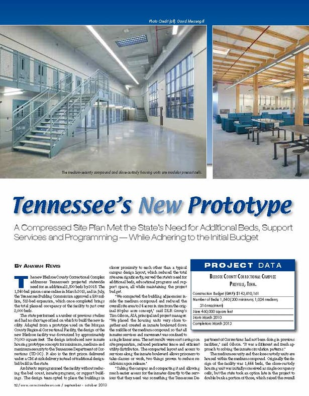 Project of the month from November issue of Correctional News.