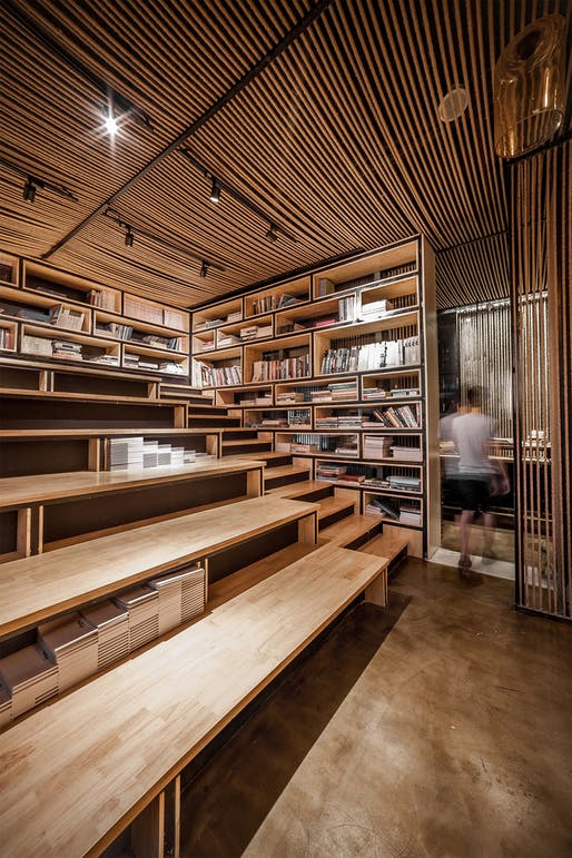 """<a href=""""https://archinect.com/usualstudio/project/rope-wave-office"""">Rope Wave Office</a> in Shanghai, China by <a href=""""https://archinect.com/usualstudio"""">Usual Studio</a>; Photo: Tim Wu"""