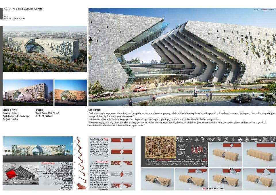 Al Basrah Cultural Centre Mouharram Zeayter Archinect