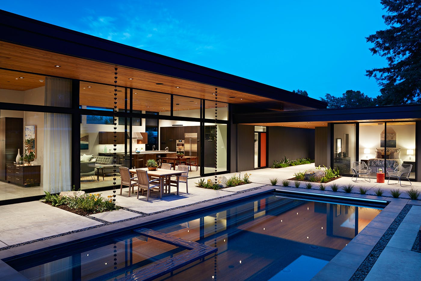 Glass Wall House By Klopf Architecture Klopf
