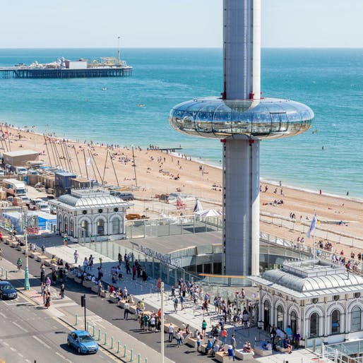 British Airways i360 at Brighton. Structural Designer: Jacob. Image courtesy of 2017 Structural Awards