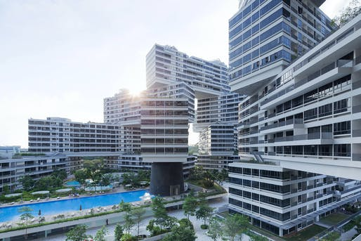 World Building of the Year: The Interlace in Singapore by OMA + Buro Ole Scheeren. Photo courtesy of World Architecture Festival 2015.
