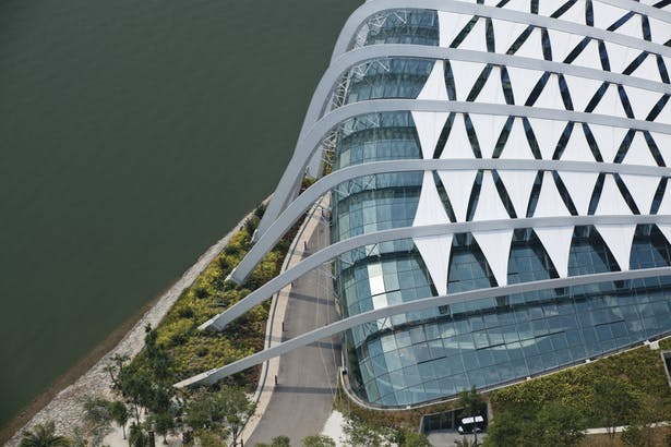 Cooled Conservatories, Gardens by the Bay - Aerial view